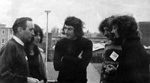 Tomas o Canainn of Na Fili, Julia & Nic Jones, Steward from NTMC and Dave Burland (Loughborough Festival 1972)